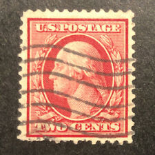 TDStamps: US Stamps Scott#358 2c Washington Used 1 Pulled Perf, Bluish