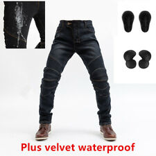 Motorcycle riding jeans waterproof and windproof warm elastic Plush pants