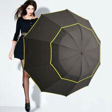 Large Unisex Double Golf Rain Umbrella Alloy Skeleton Windproof Umbrella 62''