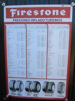 Cartel Firestone presión neumáticos
