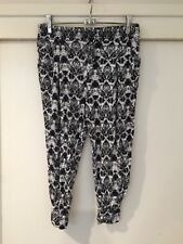 Cotton On Ladies Black And White Check Casual Pants Size S Good Condition