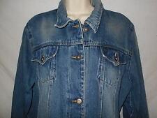 Denim Jean Jacket LARGE Womens 14-16 Steve & Barrys Blue Trucker Coat WDJ18
