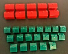 2008 Parker Brothers MONOPOLY Lot of 10 Hotels and 20 Houses