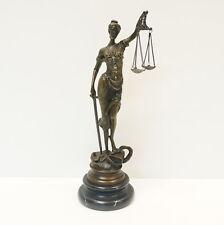 Statue Sculpture Goddess of Justice Art Deco Style Art Nouveau Style Solid bronz