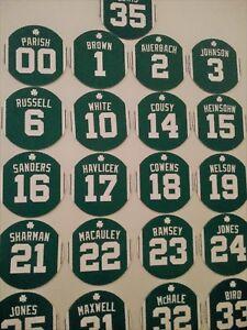 Boston Celtics Retired Jerseys Magnets Larry Bird McHale Red Auerbach, Heinsohn