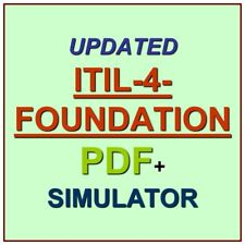 ITILFND PeopleCert ITIL 4 Foundation Version 4 V4 Test Exam QA SIM PDF+Simulator