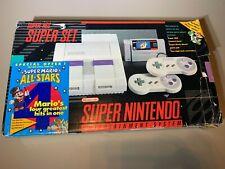 Super Nintendo SNES System Game Console Mario All Stars Version Open Box