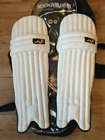 WOODWORM PURPOSE  BOY  YOUTH CRICKET PADS USED
