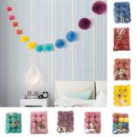 AU_ Cy_ BH_ DV_ Nordic Plush Balls Wall Hanging Ornament Kids Room Classroom Par