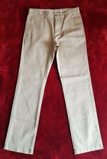GAP Kids Chino Trousers White 16 R Cotton Zipper Fly Buttoned Back Pockets