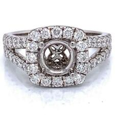 Engagement Ring Semi-Mount Setting (For 1 Ct Round) W/ 1.06 Ct Diamond 14KT GOLD