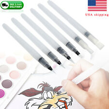 6pcs/set Water Brush Ink Pen Refillable Artist Pen Clear for Watercolor Painting