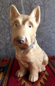 SylvaC Scottie Dog Fireside Ornament Figurine 1209 Large Size 1940/59 Vintage