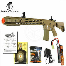 Lancer Tactical LT-25 Interceptor SPR Milsim Automatic M4 AEG Airsoft Rifle Tan