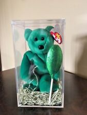 TY Beanie Baby (Erin) the Bear 1997 Retired Errors Stored in Plastic Container