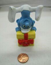 "2011 Smurfs McDonald's Toy Smurf Jokey w/ Gift Pvc Figure Cake Topper 3.5"""
