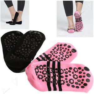 2pcs Anti-Rutsch Yoga Socken Ohnezehen Tanz Pilates Sneaker 19-23cm