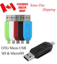 Micro SD TF memory Card Reader Micro USB 2.0 OTG Adapter for Android PC LG 3.0