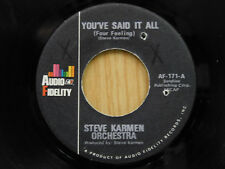 Steve Karmen Orch. 45 YOU'VE SAID IT ALL / tuba version ~ Audio VG+ to VG++