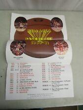 "University of Nebraska *1980-1981 BASKETBALL SCHEDULE POSTER*  (14"" x 22"")"