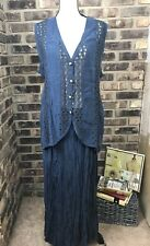 """Vintage CPX by Mimi """"all You Need"""" Women's Size Large 2 PC Vest Skirt Set BF"""