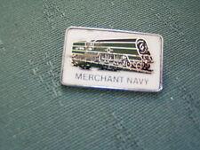 1970s MERCHANT NAVY SOUTHERN REGION RAILWAY LOCOMOTIVE METAL PIN BADGE