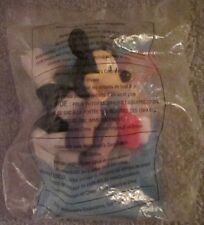 """MINI-MOUSE MCDONALD'S 2001 HAPPY MEAL SOFT TOY """"DISNEY"""" NEW IN PACKAGE OVER 1YR"""