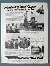 1955 Texaco Endorsement  Ad Bob Goetze South Pekin IL HOMEMADE WEED CLIPPER