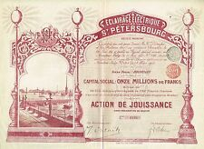 RUSSIA ST PETERSBURG ELECTRIC LIGHTING COMPANY stock certificate 1903