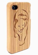 iPhone 5/5s Bamboo Wood Case ( Big Bear Engraving ) 100% Genuine Wood✔️