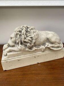Marble Lion Sculpture, Classical Sculpture, Art, Gift, Ornament.
