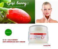ANTI WRINKLE DAY ENERGIZING face cream GOJI-BERRY + Q10+Vitamins,SPF 20,UV,50 ml