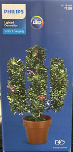 Philips Battery Operated LED Christmas Tinsel Cactus Light Novelty desert NEW