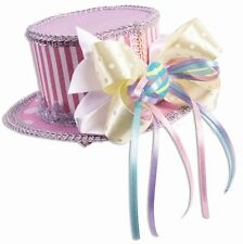 Pastel Pink and Purple Easter Mini Hat with Hair Clips