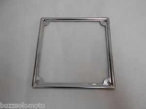 Number Plate Surround Italian Stainless Steel 6.5 x 6.5 fits Lambretta 005705