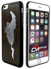Cell Phone Case Cover Skin for Apple iPhone 6 BLACK Mustang Black Walnut Metal