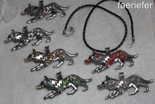 Modeschmuck-Halsketten & -Anhänger im Schnur-Stil aus Kristall und Legierung