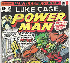 Luke Cage Power Man #29 battles Mr. Fish from Feb. 1976 in Fine- Condition