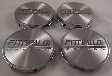 Fittipaldi Wheel Chrome / Silver Custom Wheel Center Cap Caps Set 4 # STD-S