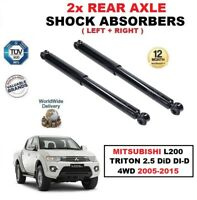REAR AXLE SHOCK ABSORBERS fits MITSUBISHI L200 TRITON 2.5 DiD DI-D 4WD 2005-2015