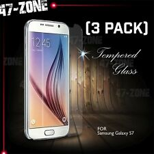 For Samsung Galaxy S7 Premium HD Clear Tempered Glass Screen Protector 3 PC