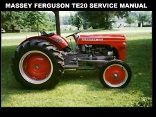 Massey Ferguson Mf Te-20 Service Manual 400pgs Te-A20 Te-D20 Gas Diesel Tractors