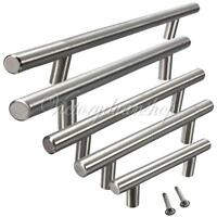 Wholesale Satin Brushed Steel T Bar Kitchen Door Furniture Handles Knob 64-256mm