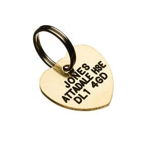 Brass Pet Tags 20mm Mini Heart