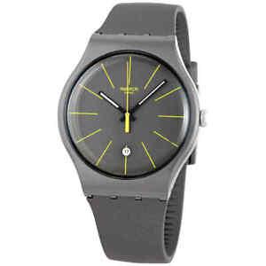 Swatch CHARCOLAZING Quartz Black Dial Men's Watch SUOB404