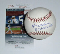 1982 BREWERS Harry Warner signed baseball w/ 82 Brewers JSA COA AUTO Autographed