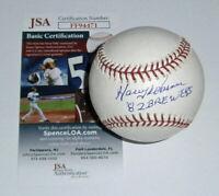 1982 BREWERS Harry Warner signed baseball w/ 82 Brewers JSA COA AUTO Autographed
