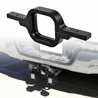 Black Towing Hitch Light Mounting Bracket For Off-Road 4x4 Truck SUV Lights Bar