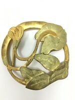 Boucle de Ceinture Bronze Doré Art Nouveau 1900 Jugendstil Bijoux Mode