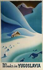 "Yugoslavia Europe Travel Croatian Slovene Travel 16/""X20/"" Vintage Poster FREE SH"
